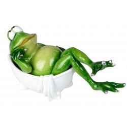 Dekojohnson Dekofigur Frosch in Badewanne