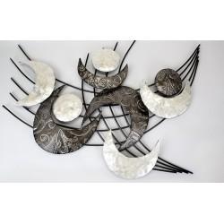 Formano Wanddeko im Retrostyle mit Muscheldekor