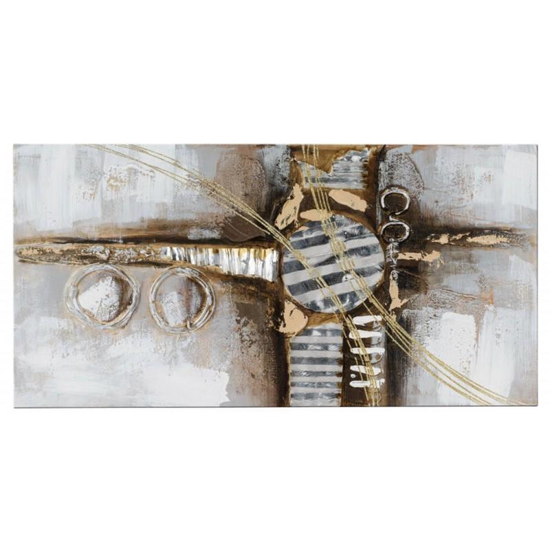 Dekojohnson Wandbild Holz Aluelemente 40x80 cm