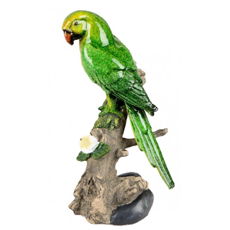 Dekojohnson Dekofigur Papagai auf Baumstamm