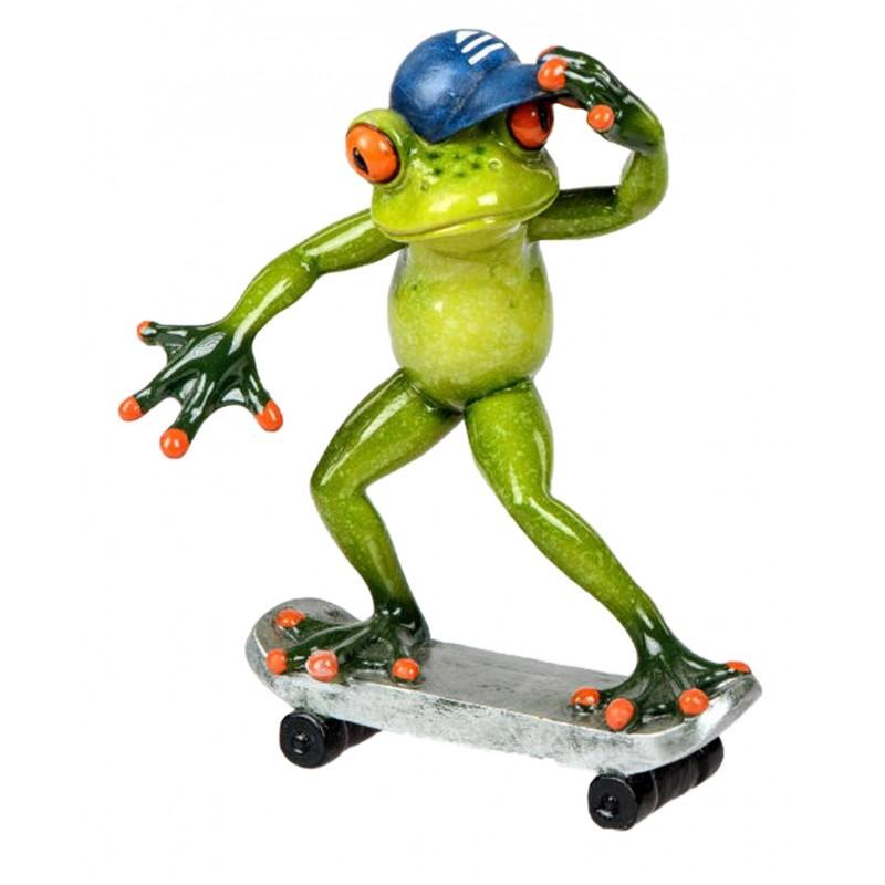 Formano Dekofigur lustiger Dekofrosch Skater