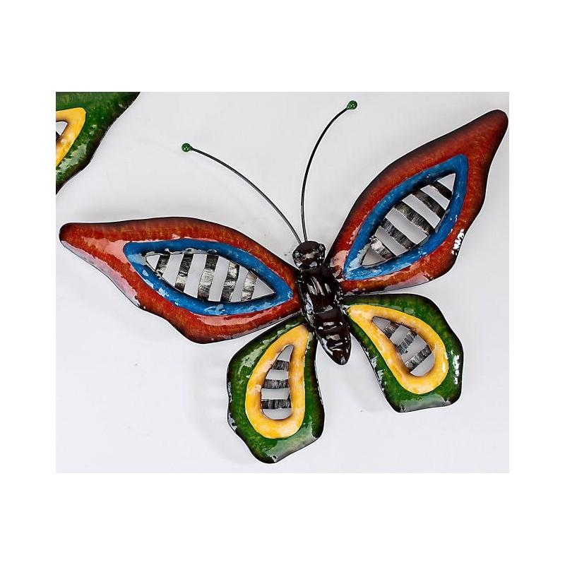 Wanddeko Schmetterling Wave Metall 46 cm