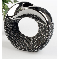 formano edle Blumenvase Black Rope aus Keramik, 23 cm