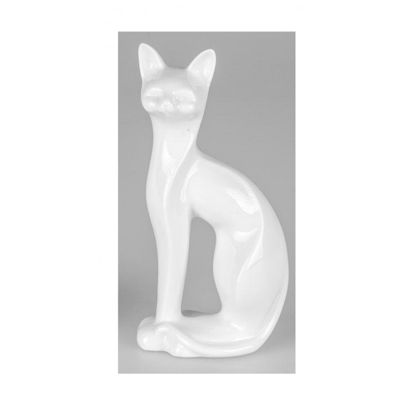 formano Dekofigur moderne Katzenfigur weiß
