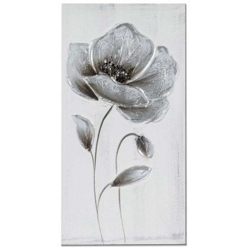 Dekojohnson Wandbild Holz Blumenbild 30x60 cm
