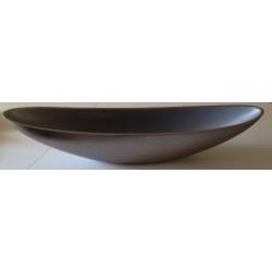 GILDE exklusive Dekoschale silber, 17x90x16 cm