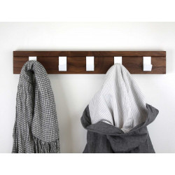 Garageeight Design Garderobenleiste 45 Nussbaum