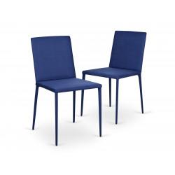 Garageeight Stuhl Ikaalinen Funky blau 2er-Set