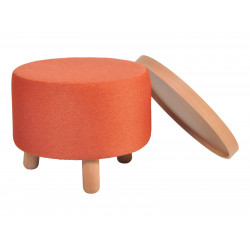 Garageeight Hocker Molde abnehmbares Tablett orange