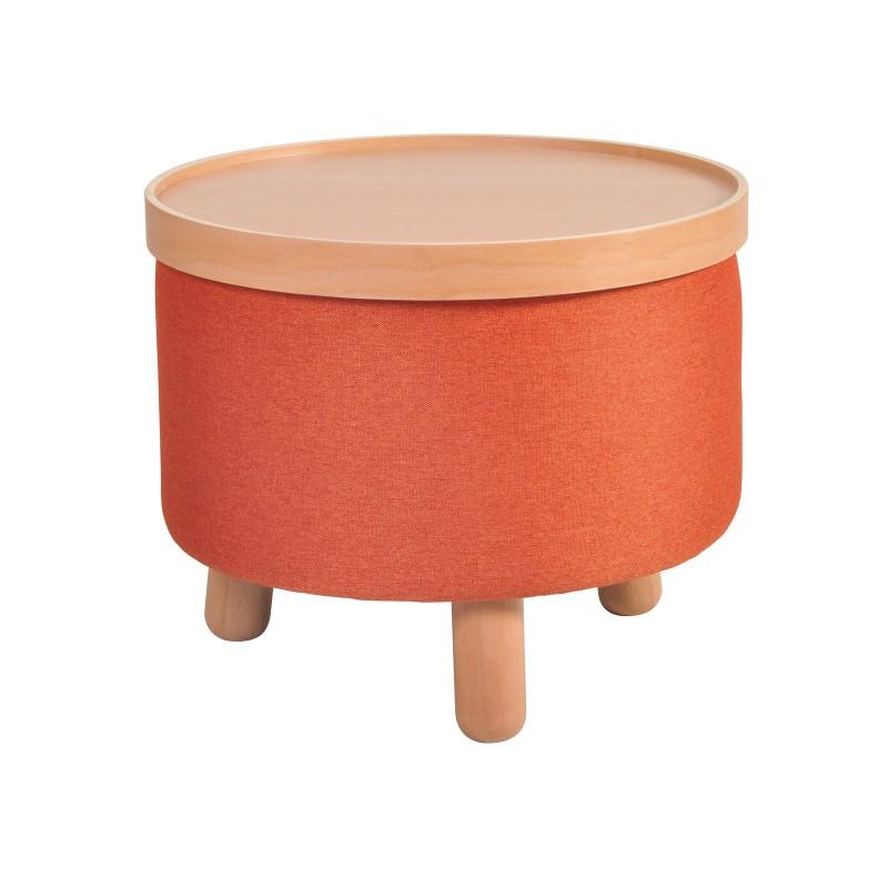 Garageeight Hocker Molde abnehmbares Tablett Groß orange