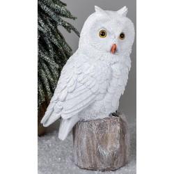 formano Deko Figur Winter Eule weiß 29 cm