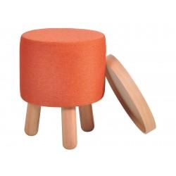 Garageeight Hocker Molde Abnehmbares Tablett klein orange
