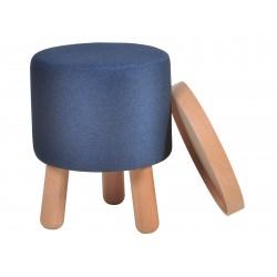 Garageeight Hocker Molde abnehmbares Tablett klein blau