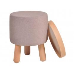 Garageeight Hocker Molde Tablett klein beige braun