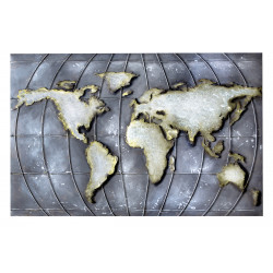 GILDE Metall Bild Planet Earth 3D 120x80x0 cm