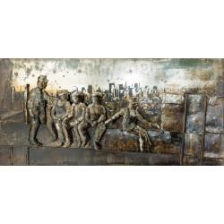 GILDE Metall Bild Lunchbreaker 3D 120x60x5,5 cm