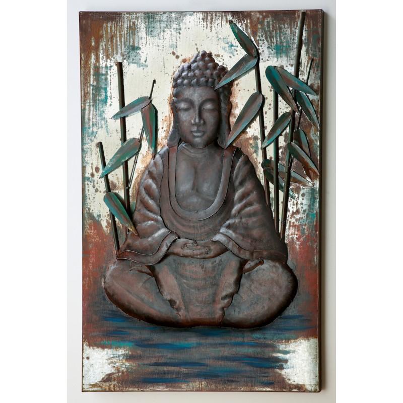 GILDE Metall Bild Asana Buddha