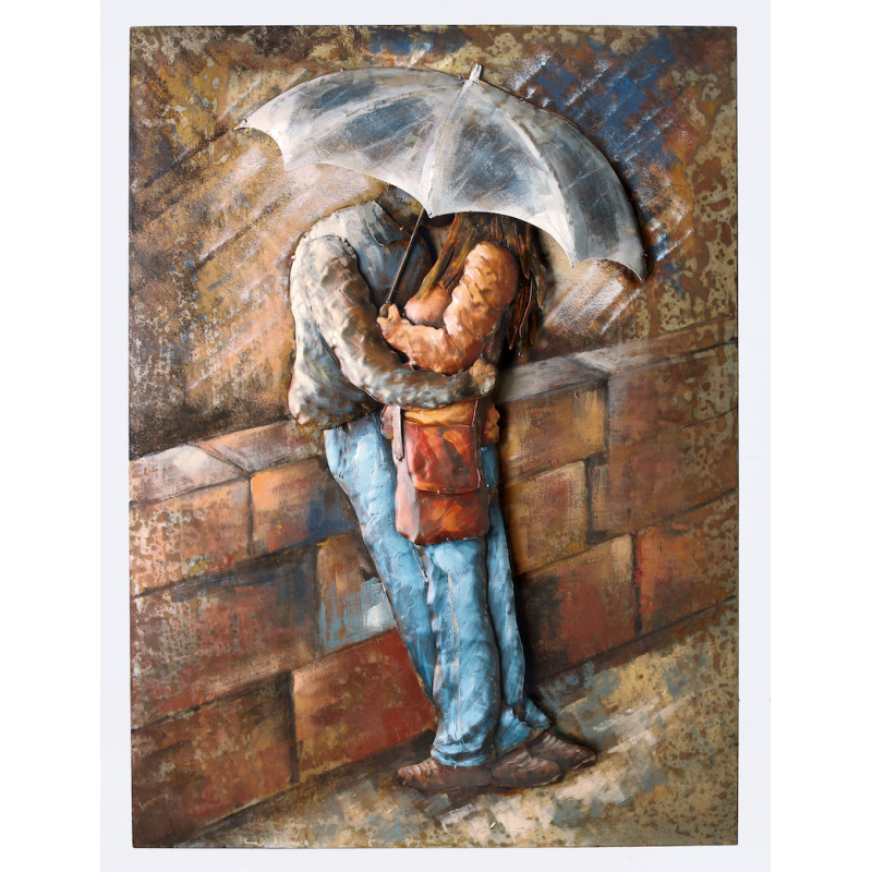 GILDE Metall Bild Rainy Kisses