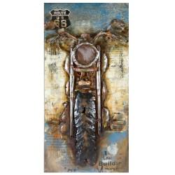 GILDE Gallery Metall Bild Motorcycle 3D 70x140x3 cm