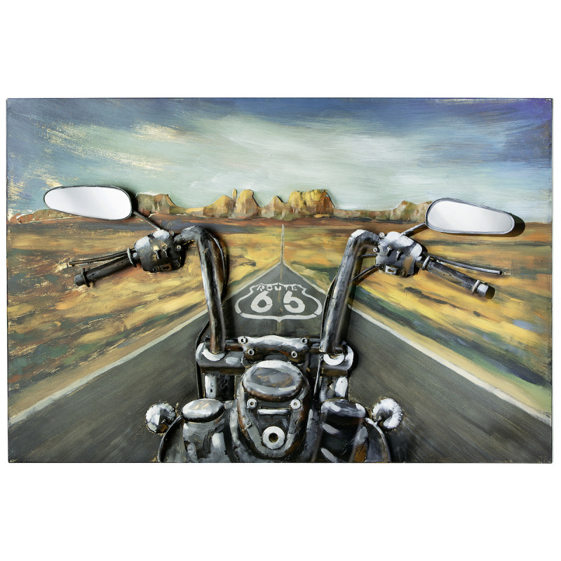 GILDE Metall Bild Route 66 Through USA 3D 120x80x7 cm