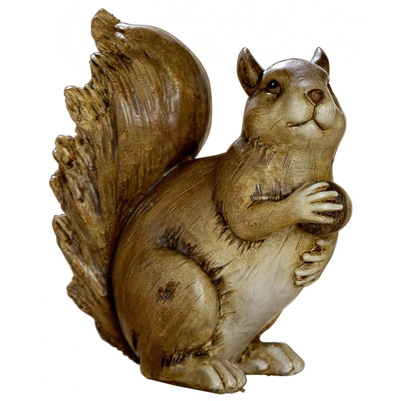 dekojohnson Eichhörnchen Figur braun 13,5x12x13 cm