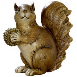 dekojohnson Eichhörnchen Dekofigur braun 13,5x12x13 cm