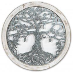 dekojohnson moderne Wanddeko rund Metall Holz 64cm