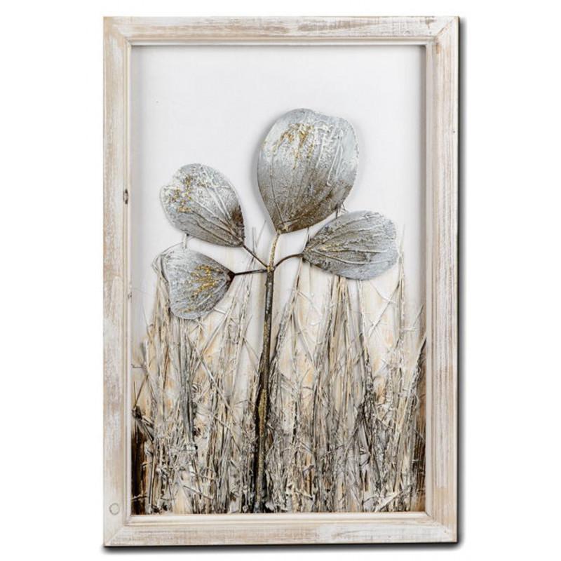 dekojohnson Vintage Wanddeko Retro Bild Blätter 40x60cm