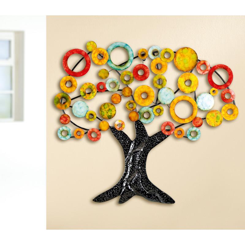 GILDE Metall Wandrelief Lebensbaum 90x84 cm