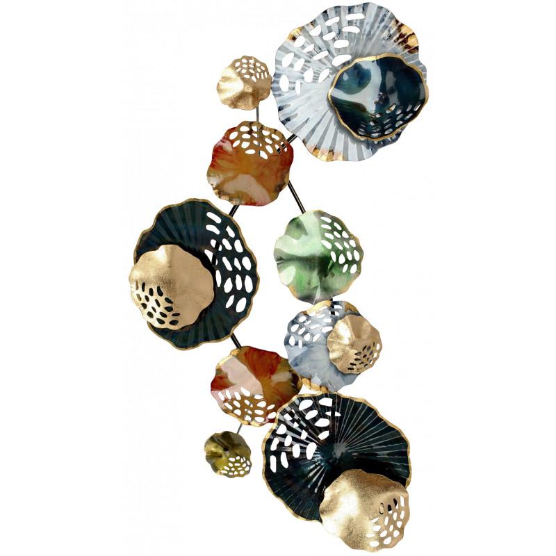 dekojohnson ausgefallene Wanddeko Metall Design Kreise Koralle