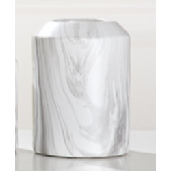 GILDE Moderne Vase Marble aus Keramik, 16x16x22 cm