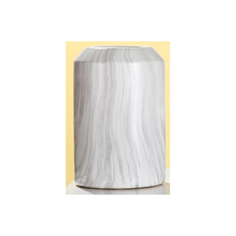 GILDE Moderne Vase Marble aus Keramik, 19x19x29 cm