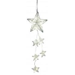 dekojohnson LED Fensterdeko Weihnachten Metall Stern Girlande