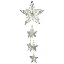 LED Fensterdeko Dekohänger Weihnachten Metall Stern Girlande