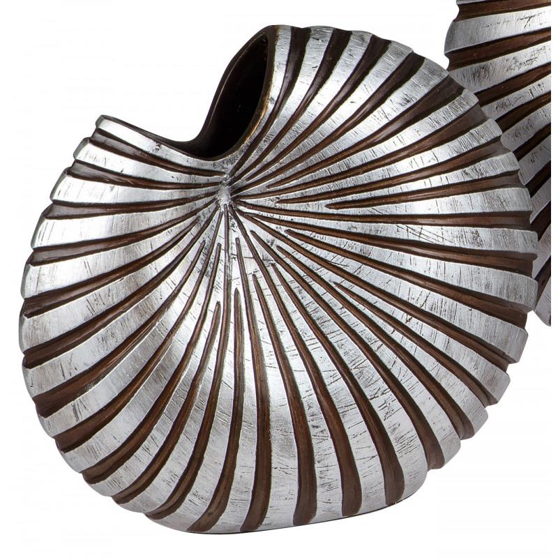 dekojohnson Vase Keramik Deko mit Loch reliefartige Oberfläche schwarz silber
