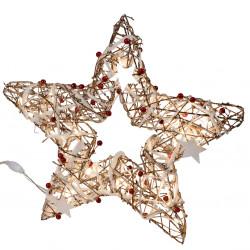 Deko LED Stern stehend mit 40 LED weiße Sternchen Weihnachtsstern 40cm