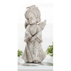 GILDE antiker Dekoengel im Steinlook, 18 cm