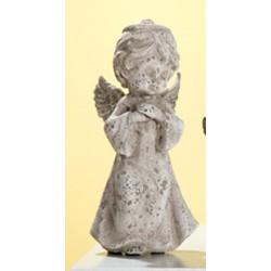 GILDE antike Engelsfigur im Steinlook, 25 cm