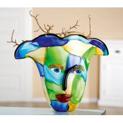 Gilde Glas Art Design Vase Visto