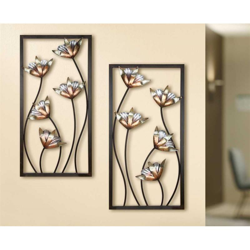 Gilde Wandrelief Lotusblüte 2 Stück 40x80 cm