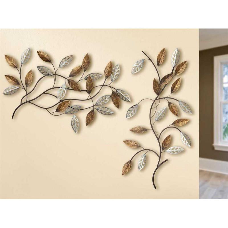 Gilde Wandrelief Zweige 2 Stück 85x45 cm