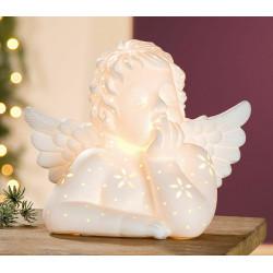 Gilde Lampe Engel weiß