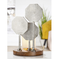 GILDE Aluminium Lampe Octagon 41x25 cm