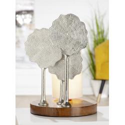 GILDE Aluminium Lampe Flower 37x25,5 cm