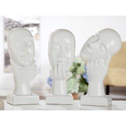 Gilde Skulptur Nachdenklich weiss