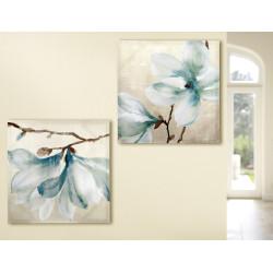 Gilde Bild Gemälde Magnolien 2 Stück 60x60 cm