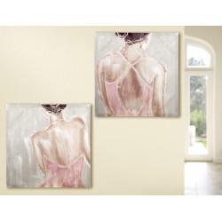 Gilde Bild Gemälde Ballerina 2 Stück 60x60 cm