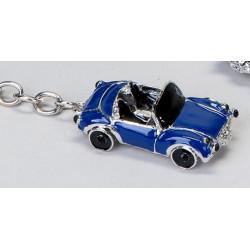 Schlüsselanhänger Cabrio blau 6 cm