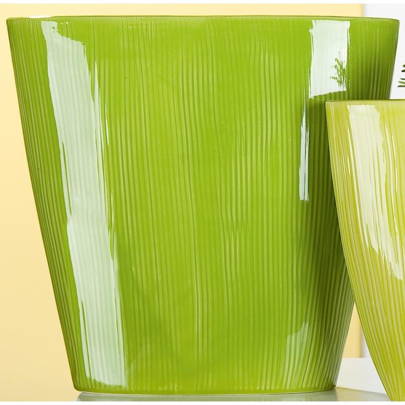 GILDE nostalgische Pflanzschale rund grün 16x41x39 cm