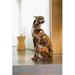 Gilde Gallery Skulptur Serengeti Hunter sitzend